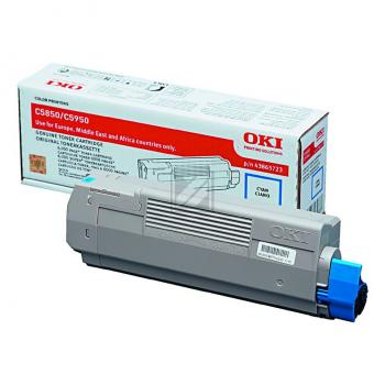 Original OKI 43865723 / C5850 Toner Cyan