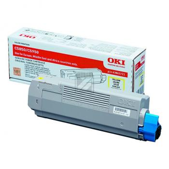 OKI Toner-Kit gelb (43865721)
