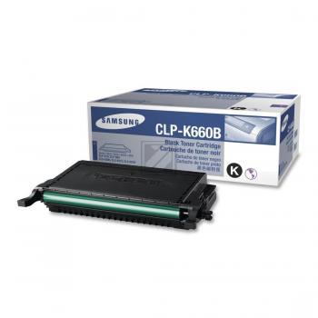 Samsung Toner-Kartusche Kartonage schwarz High-Capacity (CLP-K660B, 660)