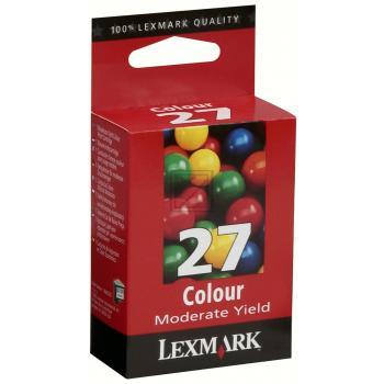 Lexmark Tintendruckkopf cyan/gelb/magenta High-Capacity (10NX227E, 27)