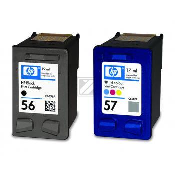 Hewlett Packard Tintenpatrone cyan/gelb/magenta schwarz High-Capacity (SA342AE, 56 57)