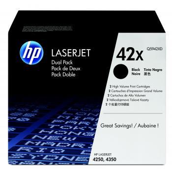 Hewlett Packard Toner-Kartusche 2x schwarz High-Capacity (Q5942XD, 42XD)