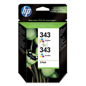 Hewlett Packard Tintenpatrone 2x cyan/gelb/magenta (CB332EE, 2x 343)