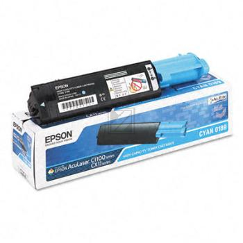 Epson Toner-Kartusche cyan High-Capacity (C13S050189, 0189)