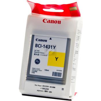Canon Tintenpatrone Pigmentierte Tinte gelb (8972A001, BCI-1431Y)