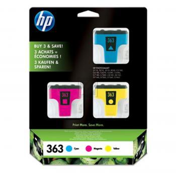 Hewlett Packard Tintenpatrone gelb cyan magenta (CB333EE, 3x 363)