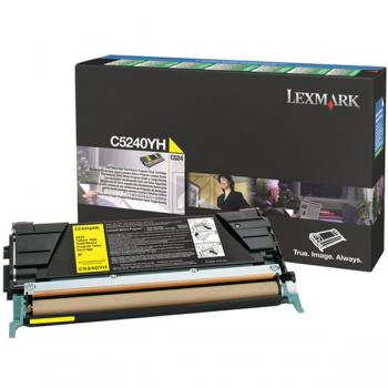 Lexmark Toner-Kartusche gelb High-Capacity (C5240YH)
