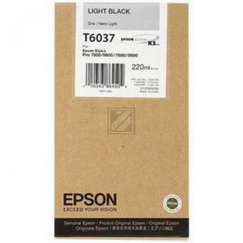 Epson Tintenpatrone schwarz light High-Capacity (C13T563700 C13T603700, T6037)