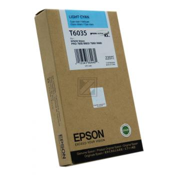 Epson Tintenpatrone cyan light High-Capacity (C13T563500 C13T603500, T6035)