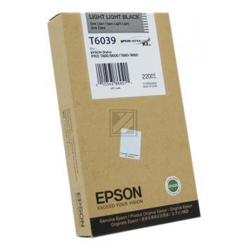 Epson Tintenpatrone schwarz light, light High-Capacity (C13T563900 C13T603900, T6039)