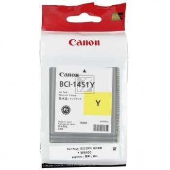 Canon Tintenpatrone Pigmentierte Tinte gelb (0173B001, BCI-1451Y)