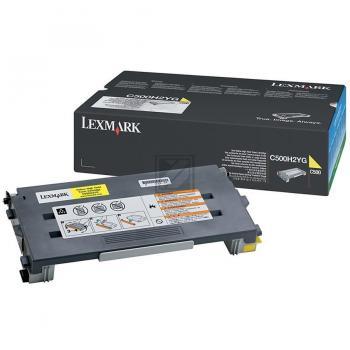 Lexmark Toner-Kartusche gelb High-Capacity (C500H2YG)