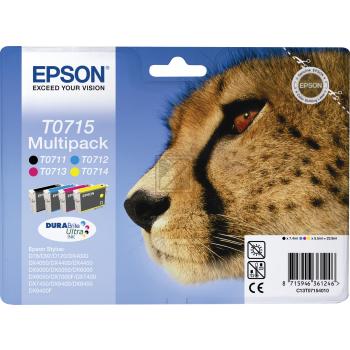 Epson Tintenpatrone gelb cyan magenta schwarz (C13T07154010, T0715)