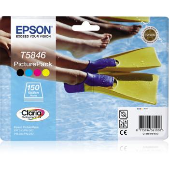 Epson Tintenpatrone gelb cyan magenta schwarz (C13T58464010, T5846)
