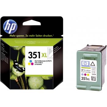 Hewlett Packard Tintenpatrone cyan/gelb/magenta High-Capacity (CB338EE, 351XL)