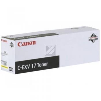 Canon Toner-Kartusche gelb (0259B002, C-EXV17Y)