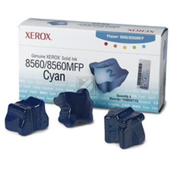 Xerox ColorStix Kartonage cyan 3-er Pack (108R00723)