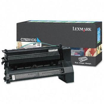 Lexmark Toner-Kartusche Kartonage cyan High-Capacity plus (C782X1CG)