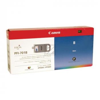Original Canon 0908B001 / PFI-701B Tinte Blau XXL