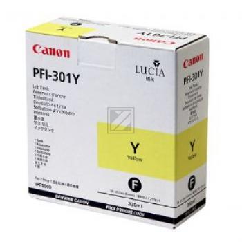 CANON PFI301Y | 330ml, CANON Tintenpatrone, gelb