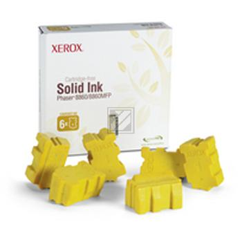 Xerox ColorStix Kartonage gelb 6-er Pack (108R00748 108R00819)