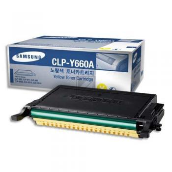 Samsung Toner-Kartusche Kartonage gelb (CLP-Y660A, Y660)