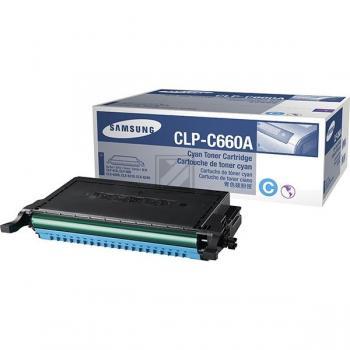Samsung Toner-Kartusche Kartonage cyan (CLP-C660A, C660)