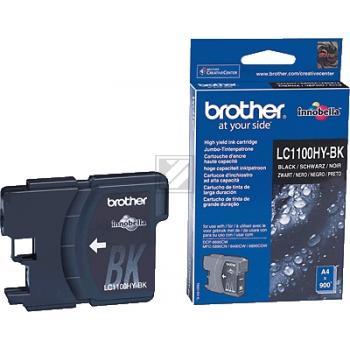 Brother Tintenpatrone schwarz High-Capacity (LC-1100HYBK)
