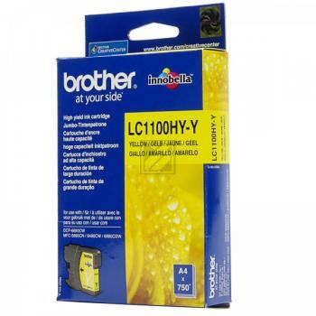 Brother Tintenpatrone gelb High-Capacity (LC-1100HYY)