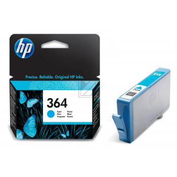 Hewlett Packard Tintenpatrone cyan (CB318EE, 364)