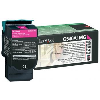 Lexmark Toner-Kartusche magenta (C540A1MG)