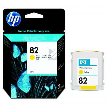 Hewlett Packard Tintenpatrone gelb (CH568A, 82)