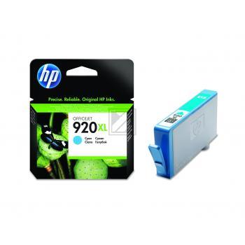 Hewlett Packard Tintenpatrone cyan High-Capacity (CD972AE, 920XL)