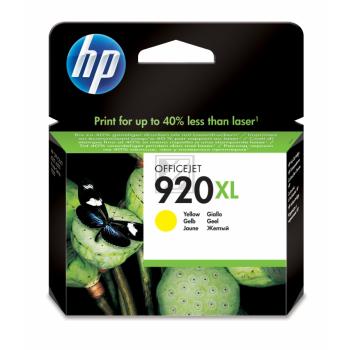 Hewlett Packard Tintenpatrone gelb High-Capacity (CD974AE, 920XL)