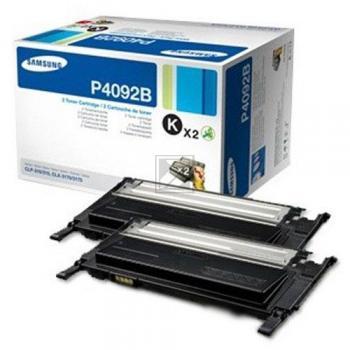 Samsung Toner-Kartusche Kartonage 2x schwarz (CLT-P4092B, 4092)