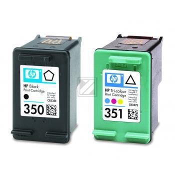 Hewlett Packard Tintenpatrone cyan/gelb/magenta schwarz (SD412EE, 350 351)