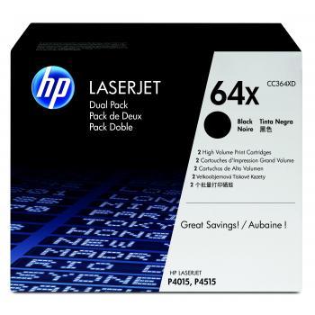 Hewlett Packard Toner-Kartusche 2x schwarz High-Capacity (CC364XD, 64XD)