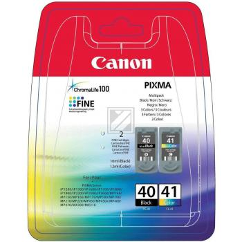 Canon Tintendruckkopf cyan/gelb/magenta schwarz (0615B043, CL-41 PG-40)