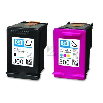 Hewlett Packard Tintenpatrone cyan/gelb/magenta schwarz (CN637EE, 2x 300)