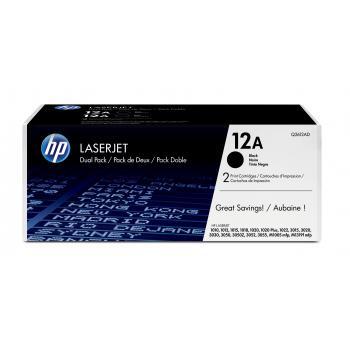 Hewlett Packard Toner-Kartusche 2x schwarz 2-er Pack (Q2612AD, 12AD)