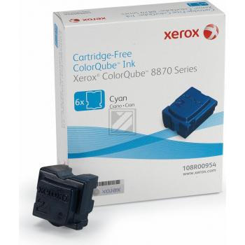 Xerox ColorStix Kartonage cyan 6-er Pack (108R00954 108R00958)