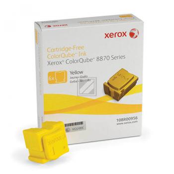 Xerox ColorStix Kartonage gelb 6-er Pack (108R00956 108R00960)