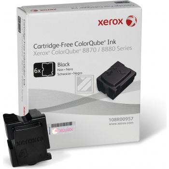 Xerox ColorStix Kartonage schwarz 6-er Pack (108R00957 108R00961)