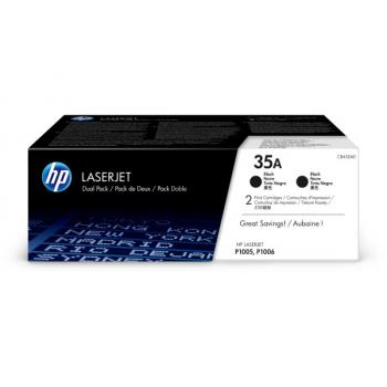Hewlett Packard Toner-Kartusche 2x schwarz 2-er Pack (CB435AD, 35AD)