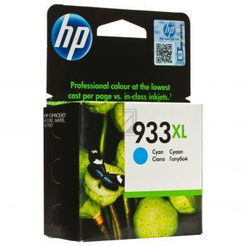 Hewlett Packard Tintenpatrone cyan High-Capacity (CN054AE, 933XL)