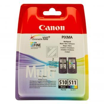 Canon Tintenpatrone gelb cyan magenta schwarz (2970B010, CL-511 PG-510)