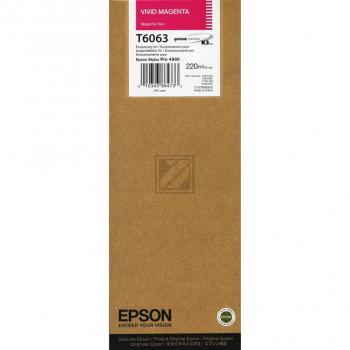 Epson Tintenpatrone magenta High-Capacity (C13T606300, T6063)