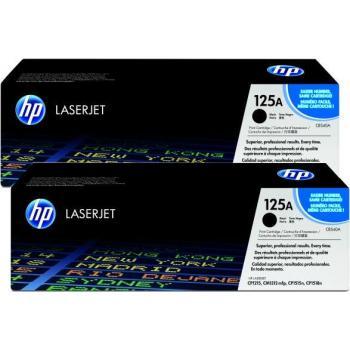Hewlett Packard Toner-Kartusche 2x schwarz 2-er Pack (CB540AD, 125AD)