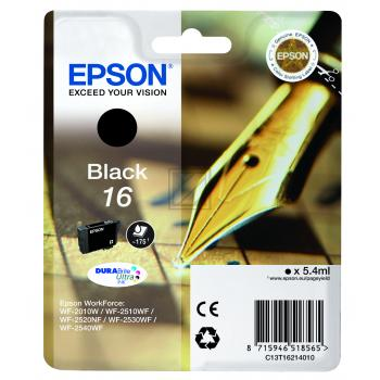 Epson Tintenpatrone schwarz (C13T16214010, T1621)