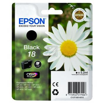 Epson Tintenpatrone schwarz (C13T18014010, T1801)